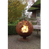 Virágmintás rozsdás tűzrakó gömb