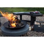 Tűzgyújtó tál gránit lapon